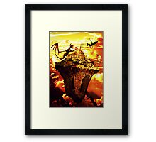 Fire Dragons In The Sky Framed Print