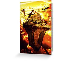 Fire Dragons In The Sky Greeting Card