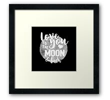 Fly Me to The Moon (b/w) Framed Print