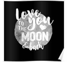 Fly Me to The Moon (b/w) Poster