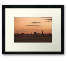 Montevideo In Morning Sunrise Framed Print