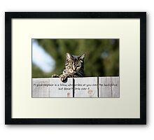 A Good Neighbor Framed Print
