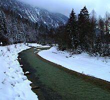 Germany, River Isar near Mittenwald by Daidalos