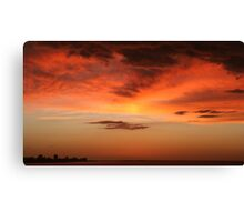 Brilliant Sunrise over Montevideo Canvas Print