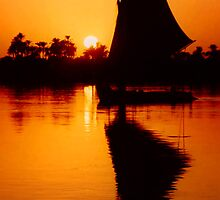 Sunset Felucca on the Nile by SerenaB
