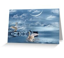 Moonlight Serenade Greeting Card
