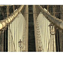 Brooklyn Bridge - Sepia Photographic Print