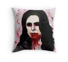 The Blood Countess Throw Pillow