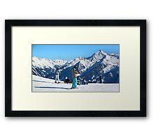 Skiing the Penken, Mayrhofen Framed Print