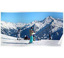 Skiing the Penken, Mayrhofen Poster