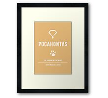 Disney Princesses: Pocahontas Minimalist Framed Print