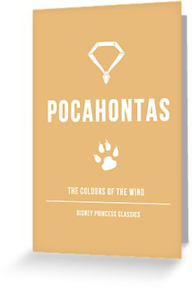 Disney Princesses: Pocahontas Minimalist by ofalexandra