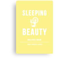 Disney Princesses: Sleeping Beauty Minimalist Canvas Print