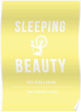 Disney Princesses: Sleeping Beauty Minimalist by ofalexandra