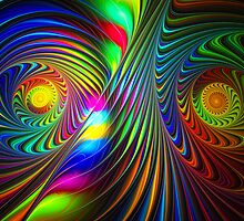 Spiraling Twist Of Colors  by Beatriz  Cruz