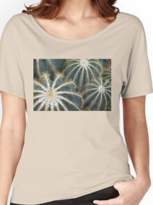 Sharp Beauty - Elegantly Ordered Cactus Needles Women's Relaxed Fit T-Shirt
