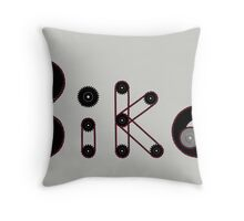 Bike Gear Throw Pillow