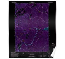 USGS Topo Map Washington State WA Green Mountain 241411 1994 24000 Inverted Poster