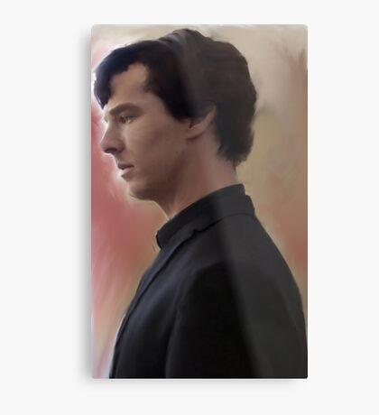 BBC Sherlock Painting Metal Print