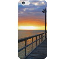 Watching the Sunset on the Texas Gulf iPhone Case/Skin