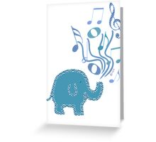 blue music Greeting Card