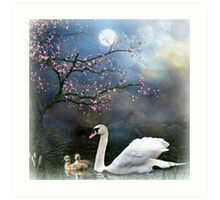 By the Light of the Silvery Moon ! Art Print