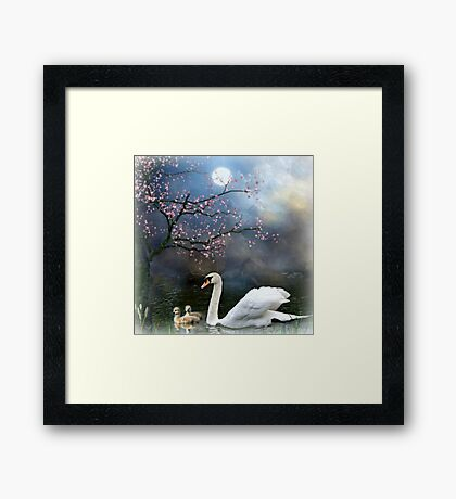 By the Light of the Silvery Moon ! Framed Print