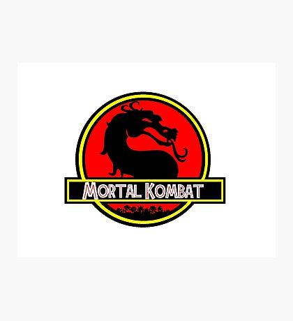 Jurassic Kombat Photographic Print