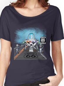 Alien invasion route 66 vinta style gifts Women's Relaxed Fit T-Shirt