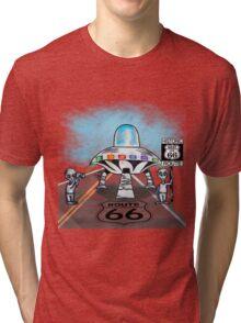 Alien invasion route 66 vinta style gifts Tri-blend T-Shirt