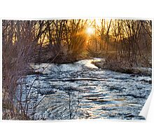 Sunrise On The St Vrain River Poster