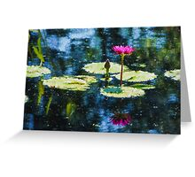 Waterlily Impressions - Dreaming of Monet Gardens Greeting Card