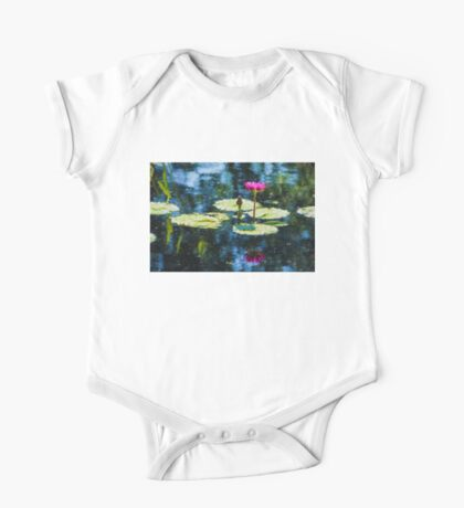 Waterlily Impressions - Dreaming of Monet Gardens One Piece - Short Sleeve