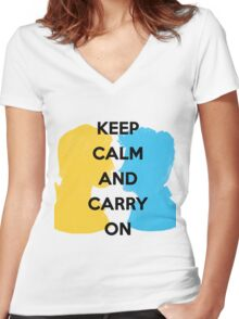 Carry On, Simon and Baz Women's Fitted V-Neck T-Shirt