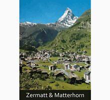 Retro Swiss travel Zermatt and Mount Matterhorn Unisex T-Shirt