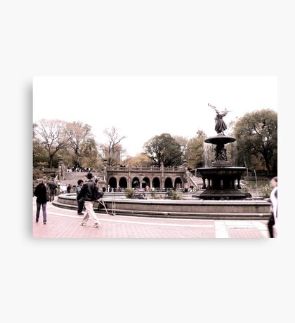 Afternoon At Bethesda Fountain Canvas Print