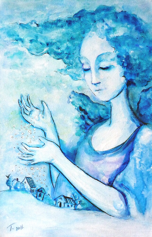 """Snow angel"" by Tatjana Larina"