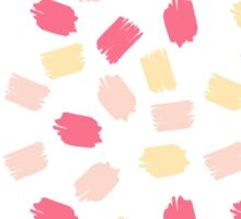 Yellow & Pink Brushstroke Polka Dots Sticker