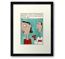 Three-Eared Puppet Dog Framed Print