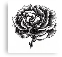 Rose Tattoo - Ink Drawing Canvas Print