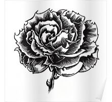Rose Tattoo - Ink Drawing Poster