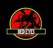 Red Eyes Black Jurassic Dragon by Sam Maskery