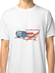 Elegant country Flat USA  route 66  Classic T-Shirt