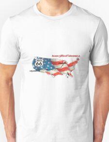 Elegant country Flat USA  route 66  Unisex T-Shirt