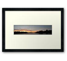 Adirondack Lake Sunset Framed Print