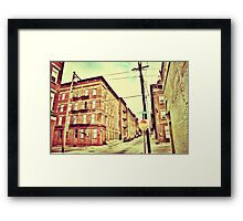 Broadway Street - Downtown Cincinnati Framed Print
