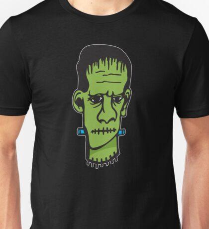 Frankenstein on Black Unisex T-Shirt