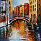 CANAL IN VENICE - LEONID AFREMOV by Leonid  Afremov
