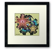 Ribbon Floral Framed Print