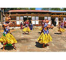 Accompaniment Dance, Bhutan Photographic Print